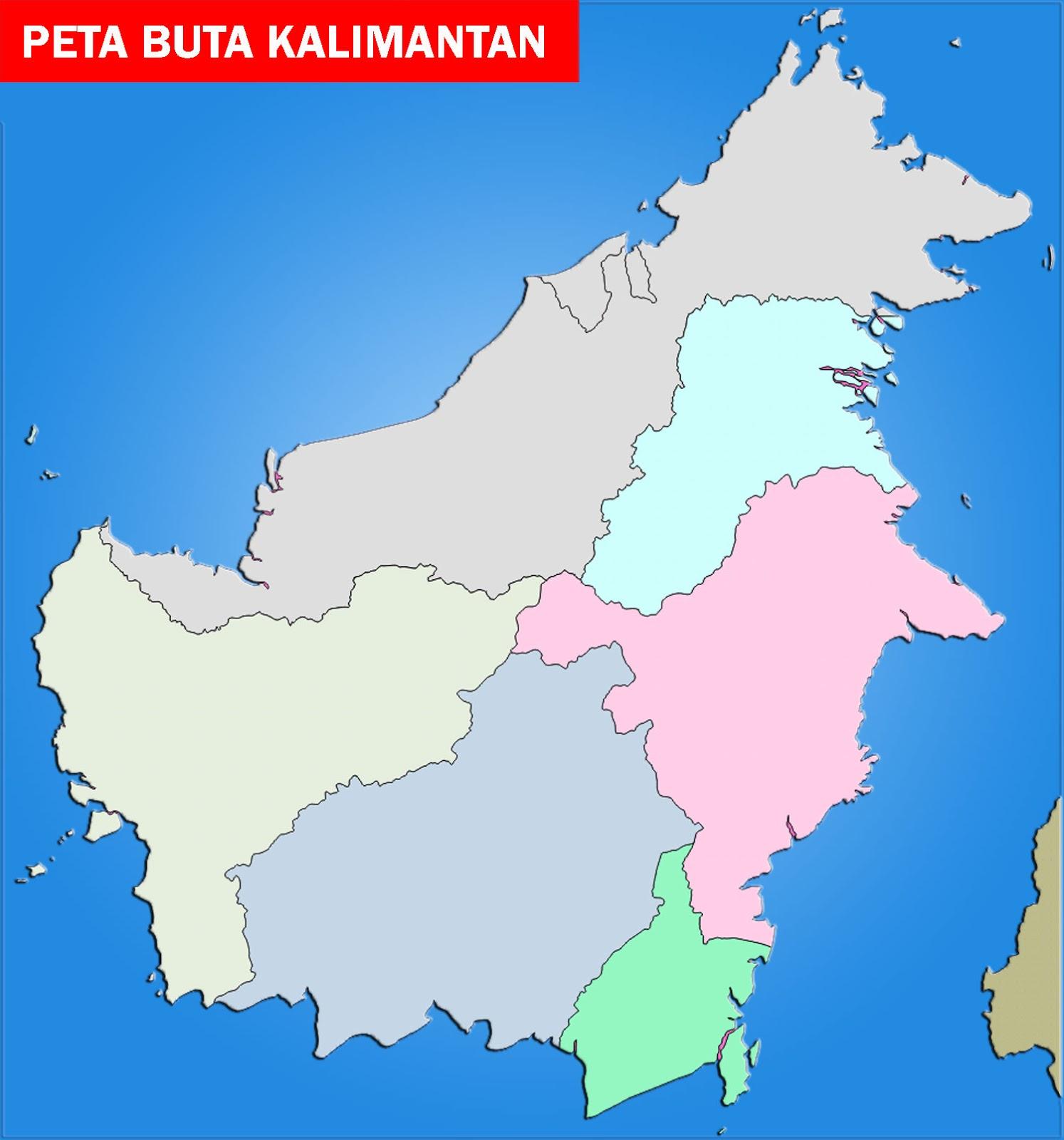 Peta Kalimantan Lengkap 5 Provinsi Sejarah Negara Gambar Buta Sketsa