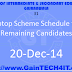 Laptop Scheme Schedule for Remaining Candidates