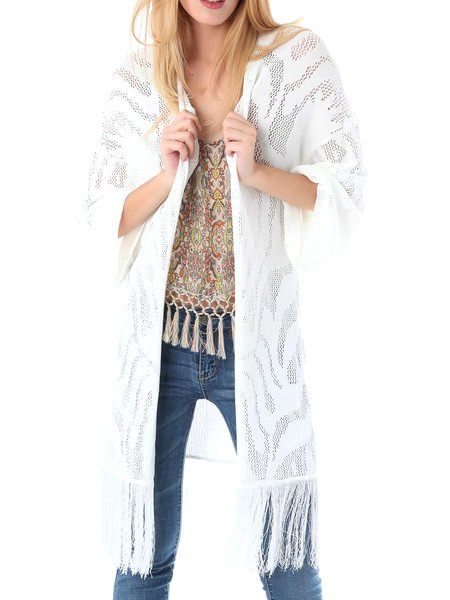 White Casual Viscose Kimono from Q2 – Price:$99.00