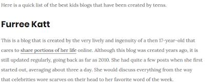 http://kidslearntoblog.com/best-kids-blogs-inspire-teens/