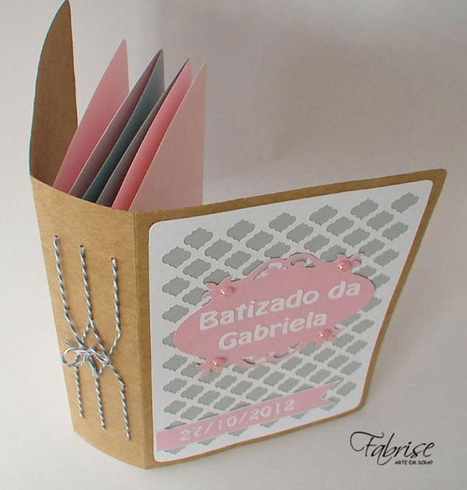 Mini Álbum Personalizado – Batizado da Gabriela