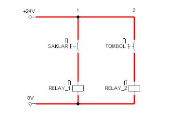 Rangkaian sistem kontrol saklar dan tombol 2
