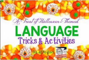 Speech Sprouts: Easy Story-Telling Halloween Craft For Halloween! Then check out more frightful ideas at this fun Linky party: Halloween-Themed Language Tricks & Activities for SLPs