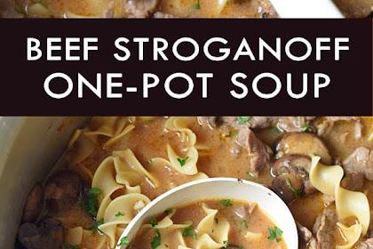 One-Pot Beef Stroganoff Soup