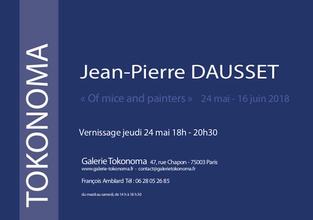 Jean Pierre DAUSSET galerie TOKONOMA Paris