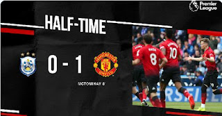 HT: Huddersfield Town vs Manchester United  0-1 Highlights