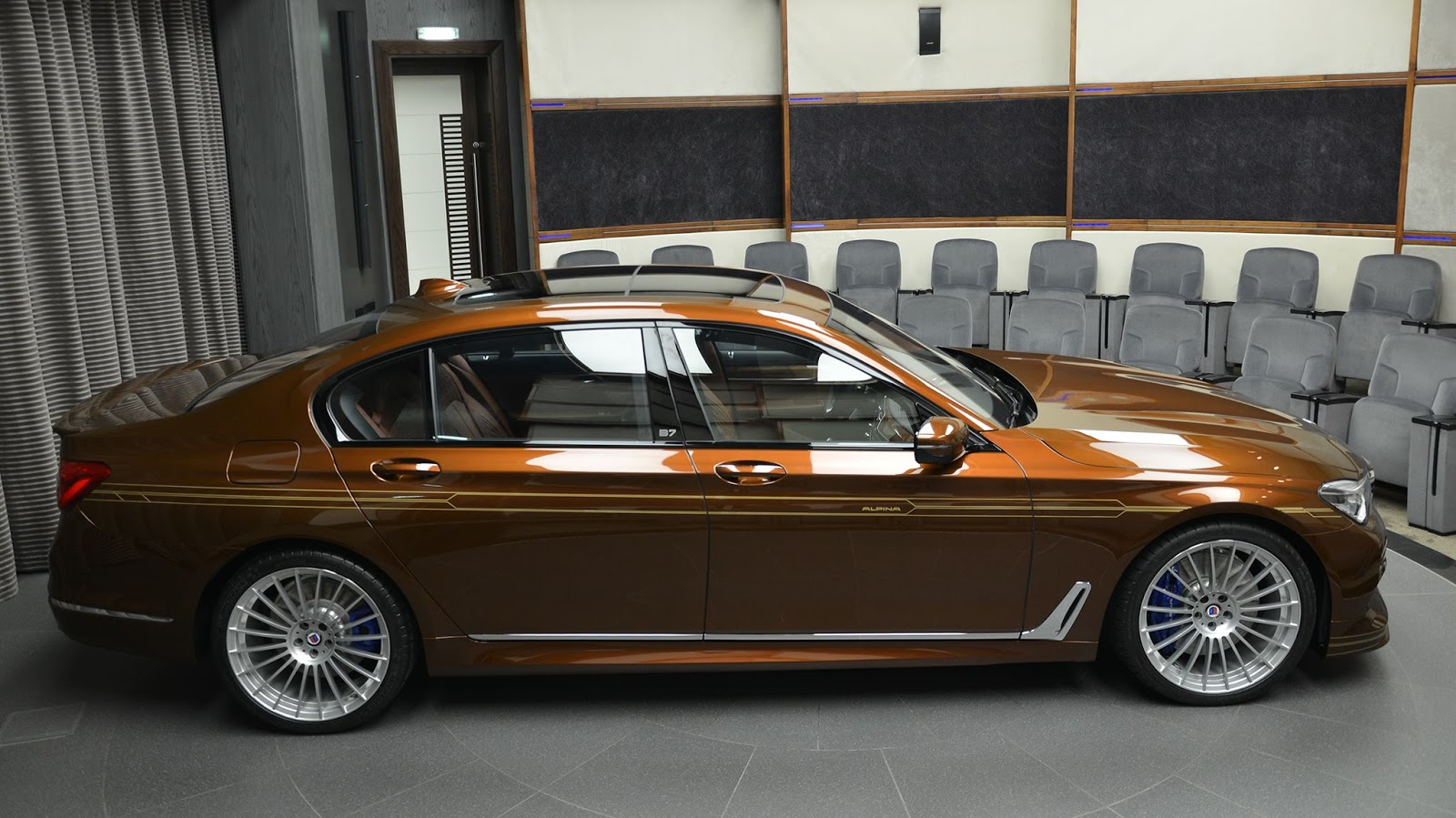 alpina b7 individual certainly looks different in chestnut. Black Bedroom Furniture Sets. Home Design Ideas