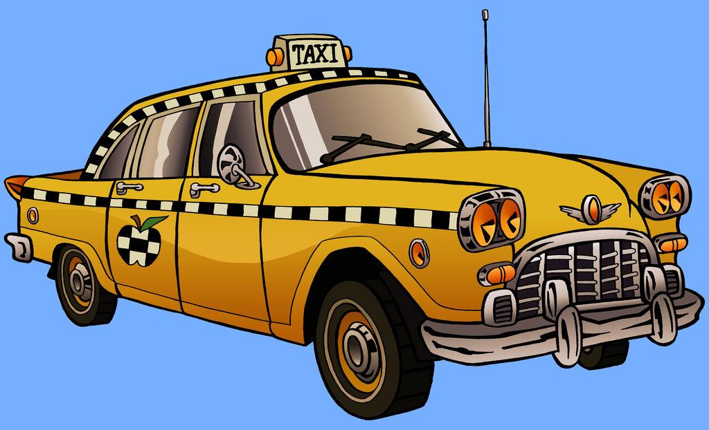 Зайца, такси в картинках для детей