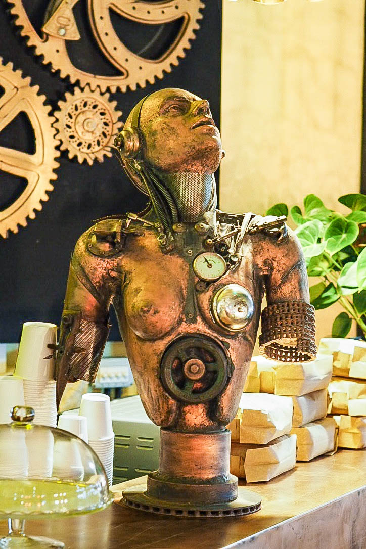 Steam punk brass cast body