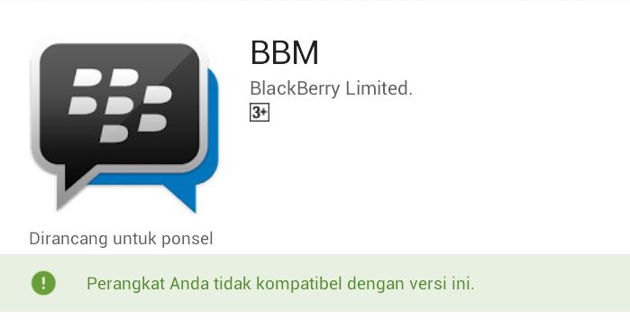 Cara Download Dan Install Aplikasi Bbm Yang Tidak Kompatibel Di