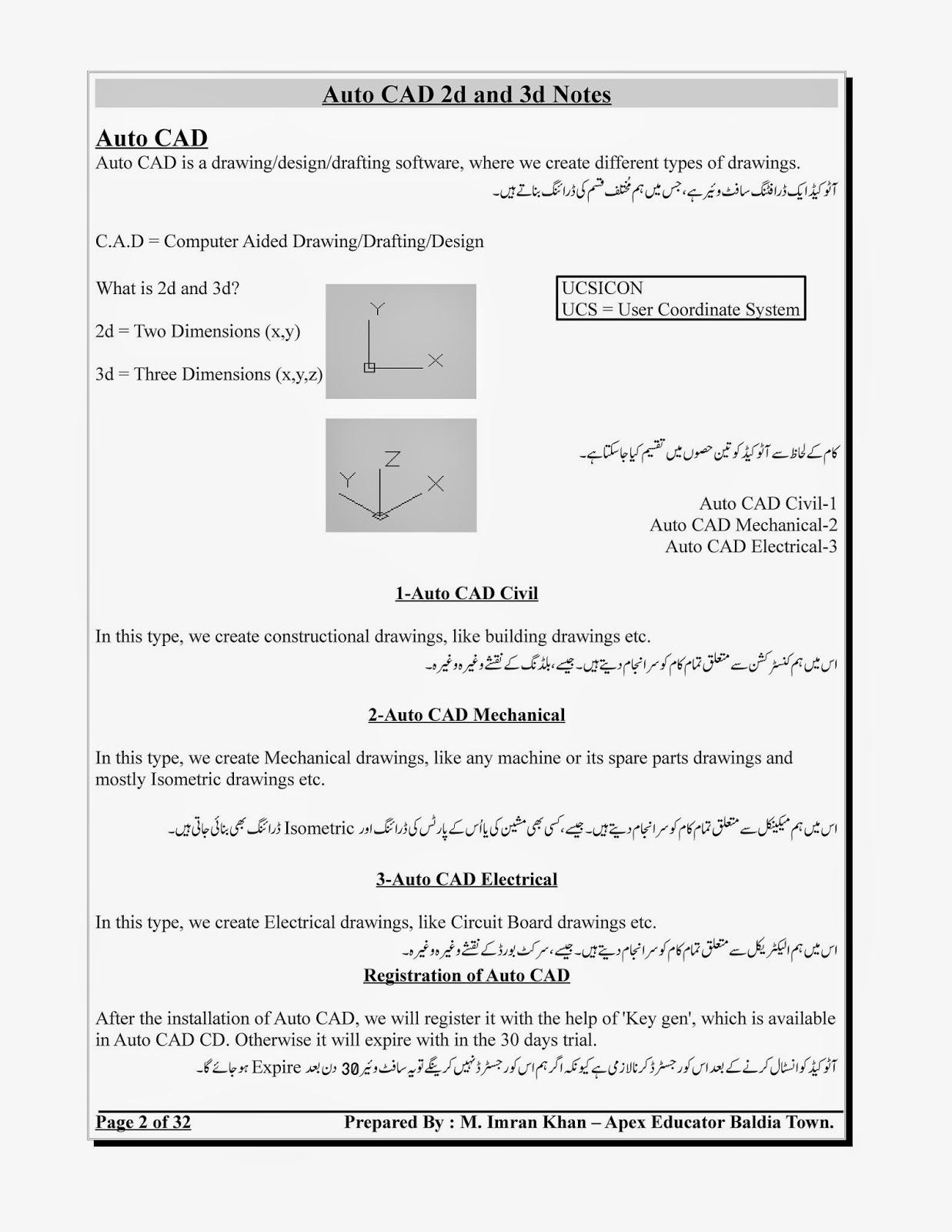 Autocad Book In Urdu