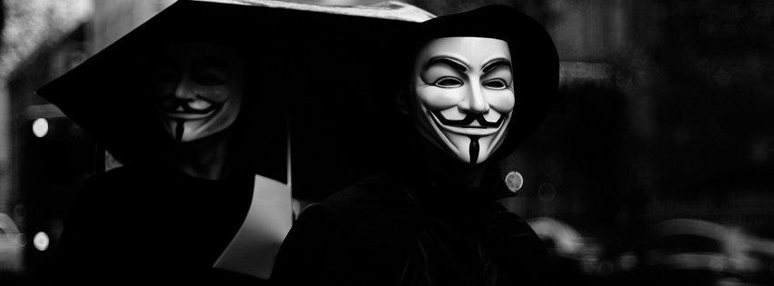Ảnh bìa facebook hacker, ảnh bìa hacker Anonymous chất