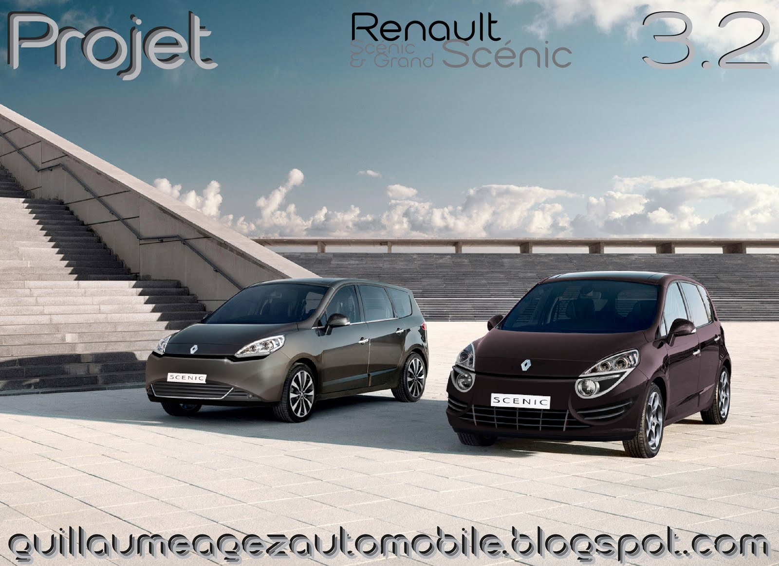 guillaume agez automobile projet renault scenic iii phase 2. Black Bedroom Furniture Sets. Home Design Ideas