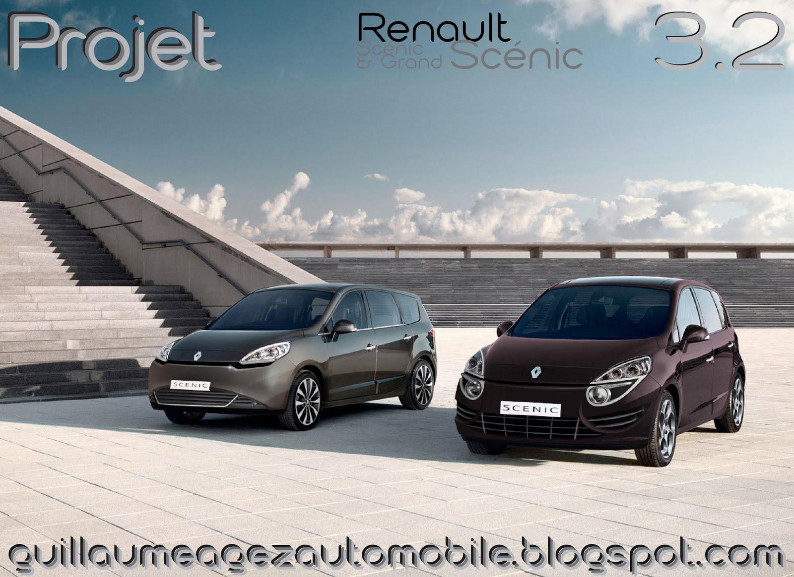 guillaume agez automobile projet renault scenic iii phase 2. Black Bedroom Furniture Sets. Home Design Ideas