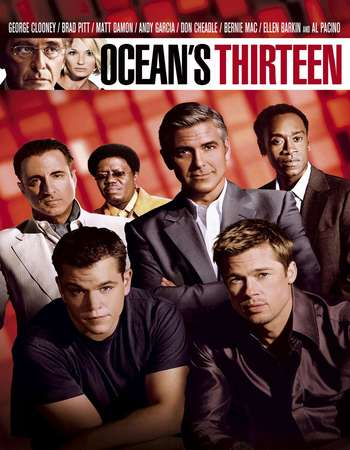 Oceans Thirteen 2007 Hindi Dual Audio 550MB BRRip 720p ESubs HEVC