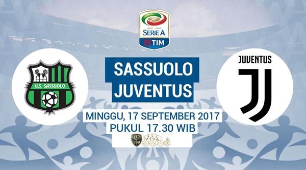 Prediksi Bola : Sassuolo Vs Juventus , Minggu 17 September 2017 Pukul 17.30 WIB