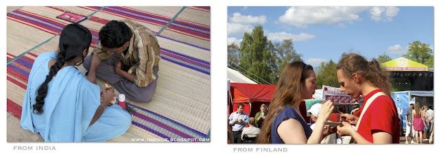 Yhteinen ateria Intiassa ja Suomessa
