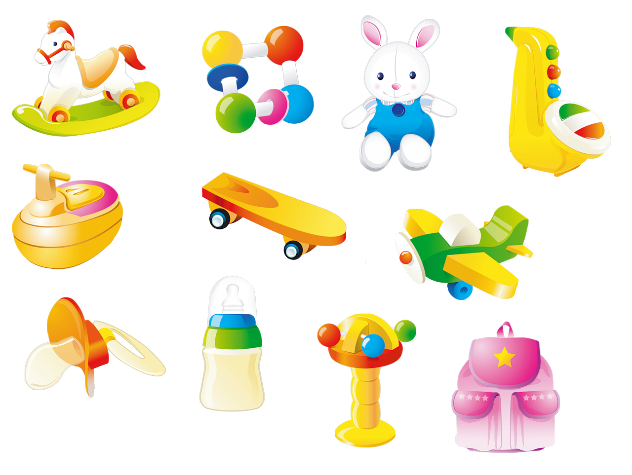 darling scrap: toys vector