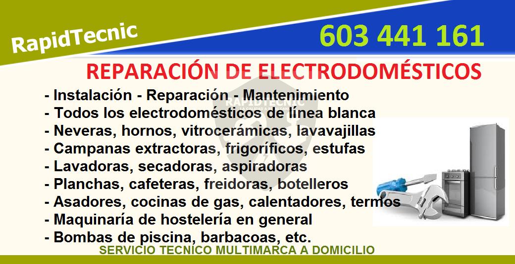 Rapidtecnic reparaci n de electrodom sticos sarri - Electrodomesticos sarria ...
