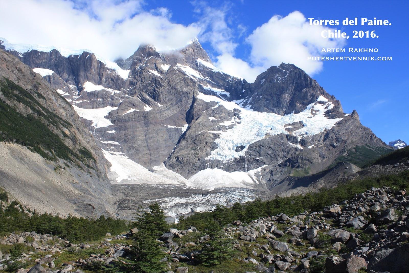 Горы и льды в Торрес-дель-Пайне