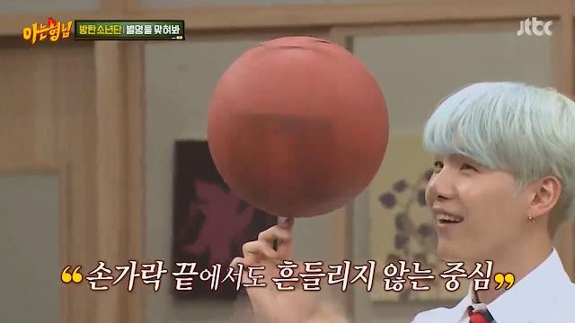 Suga BTS sangat suka dengan olahraga basket (Knowing Brothers episode 94)