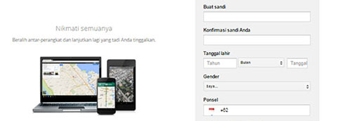 Form Pendaftaran Gmail