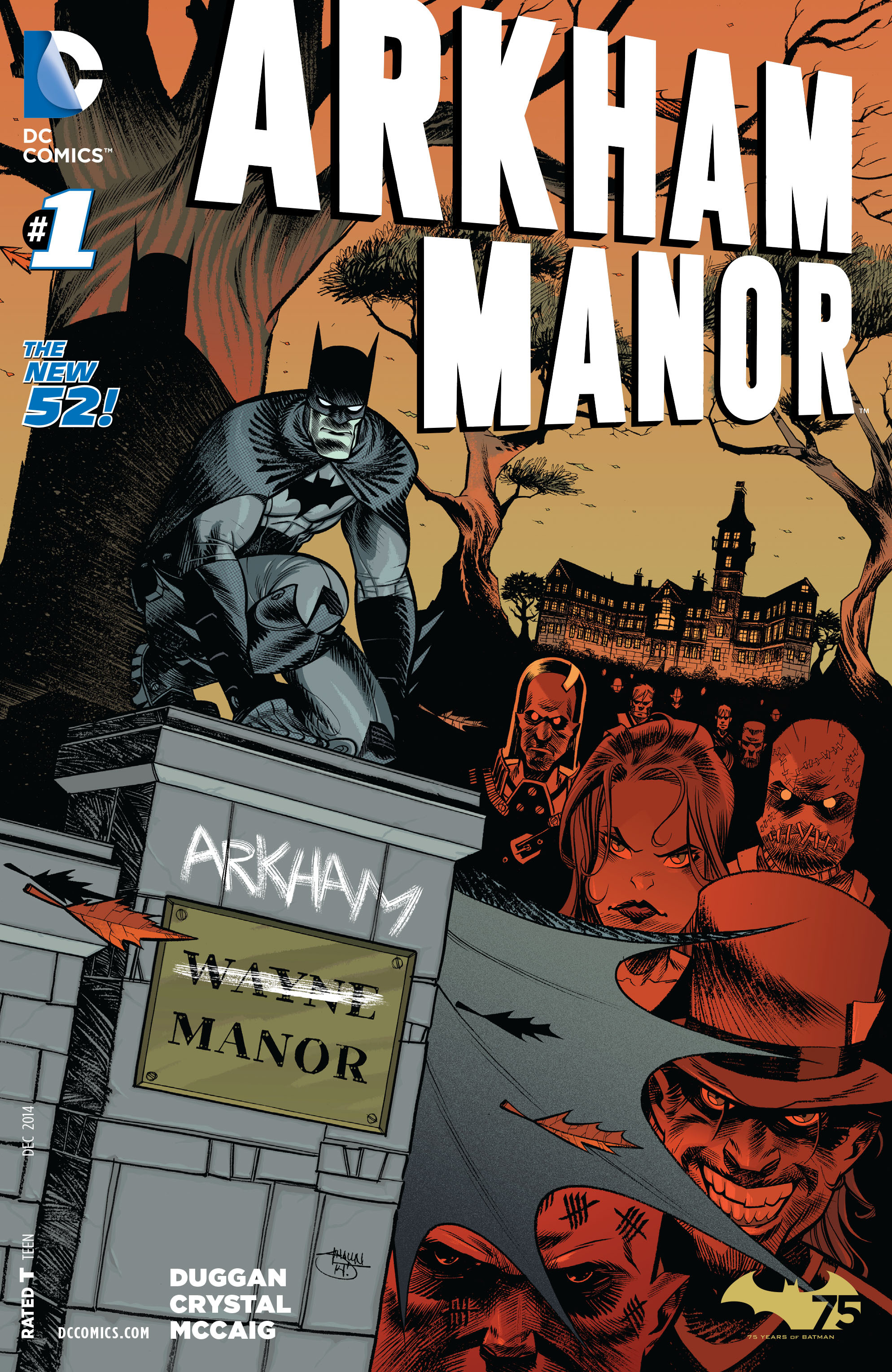 Read online Arkham Manor comic -  Issue #1 - 1