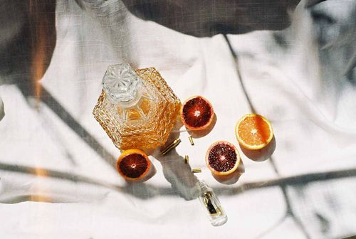 Blood Oranges + Whiskey Bottle + Picnic | Photography | Allegory of Vanity