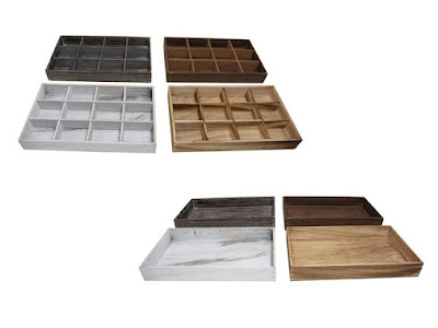Shop Stackable Antique Wooden Jewelry Trays at NileCorp.com