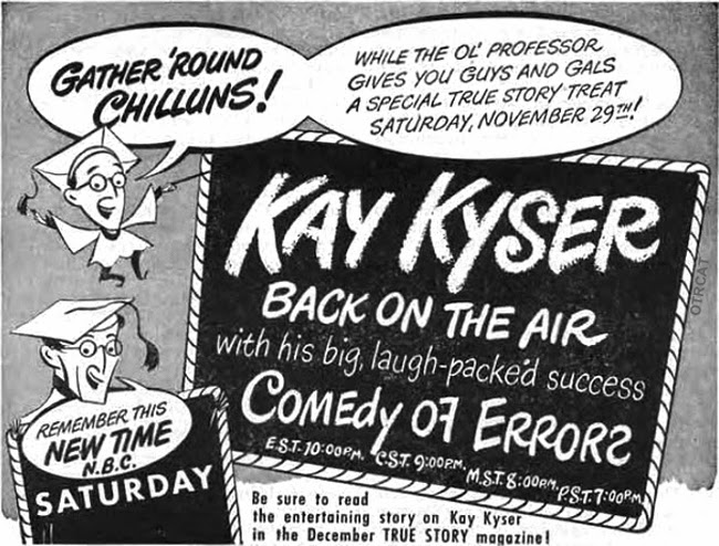Beginning In 1938 Kysers Kollege Of Musical Knowledge Broadcast On The Mutual Radio Before Switching To NBC From 1939 1949
