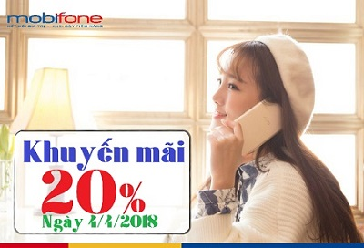 mobifone khuyến mãi ngày 4/4/2018