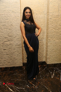 Actress Rakul Preet Singh Stills in Beautiful Blue Long Dress at Dhruva Salute to Audience Event  0094.JPG