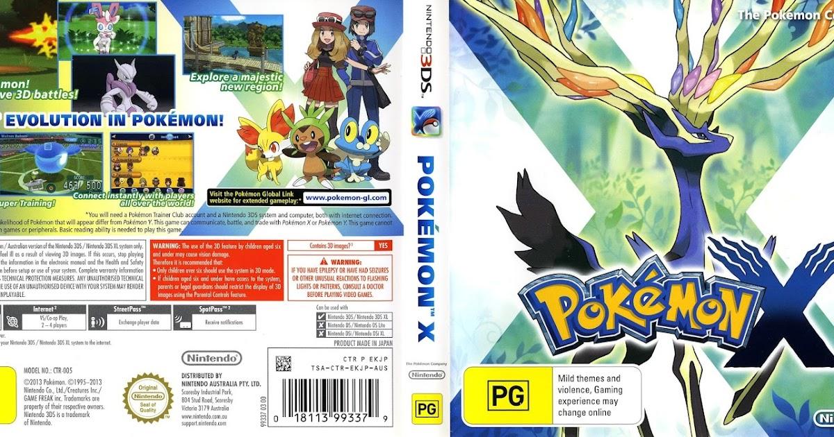 Pokemon X 3DS Rom [Region Free] [Citra Decrypted]