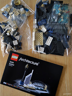 lego architecture sydney - the parts