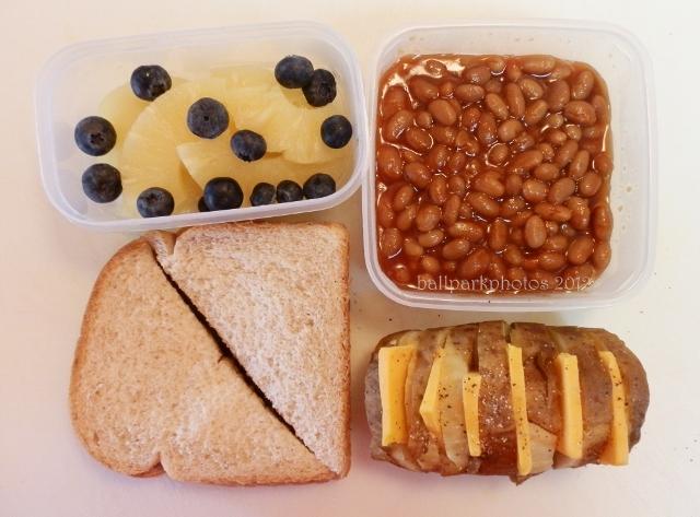 pb & j, potato, beans