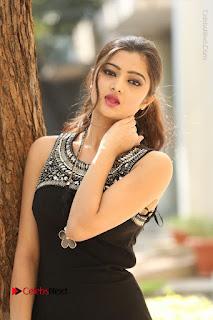 Actress Poojitha Pallavi Naidu Stills in Black Short Dress at Inkenti Nuvve Cheppu Movie Platinum Disc Function  0055.JPG