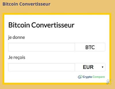 convertisseur euro, dollars etc en bitcoin