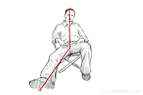 Step 1 - How to Draw a Seated Person for Beginners Easy Step by Step