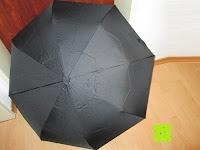 außen: GHB Automatic Regenschirm Taschenschirm mit 96 cm Durchmesser Schwarz