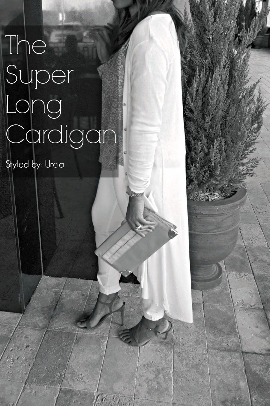 ankle length cardigan