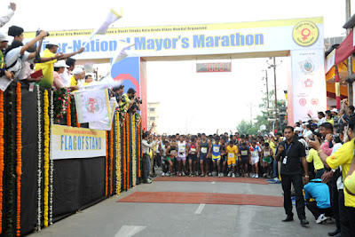 Riteish & Mahima at 2nd Vasai-Virar Mayor's Marathon