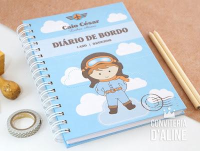 caderno recordações aviador