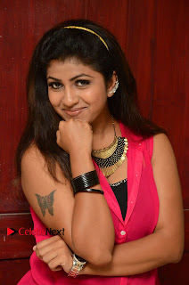 Actress Geethanjali Pictures in Pink Dress at Avanthika Movie Opening 0010