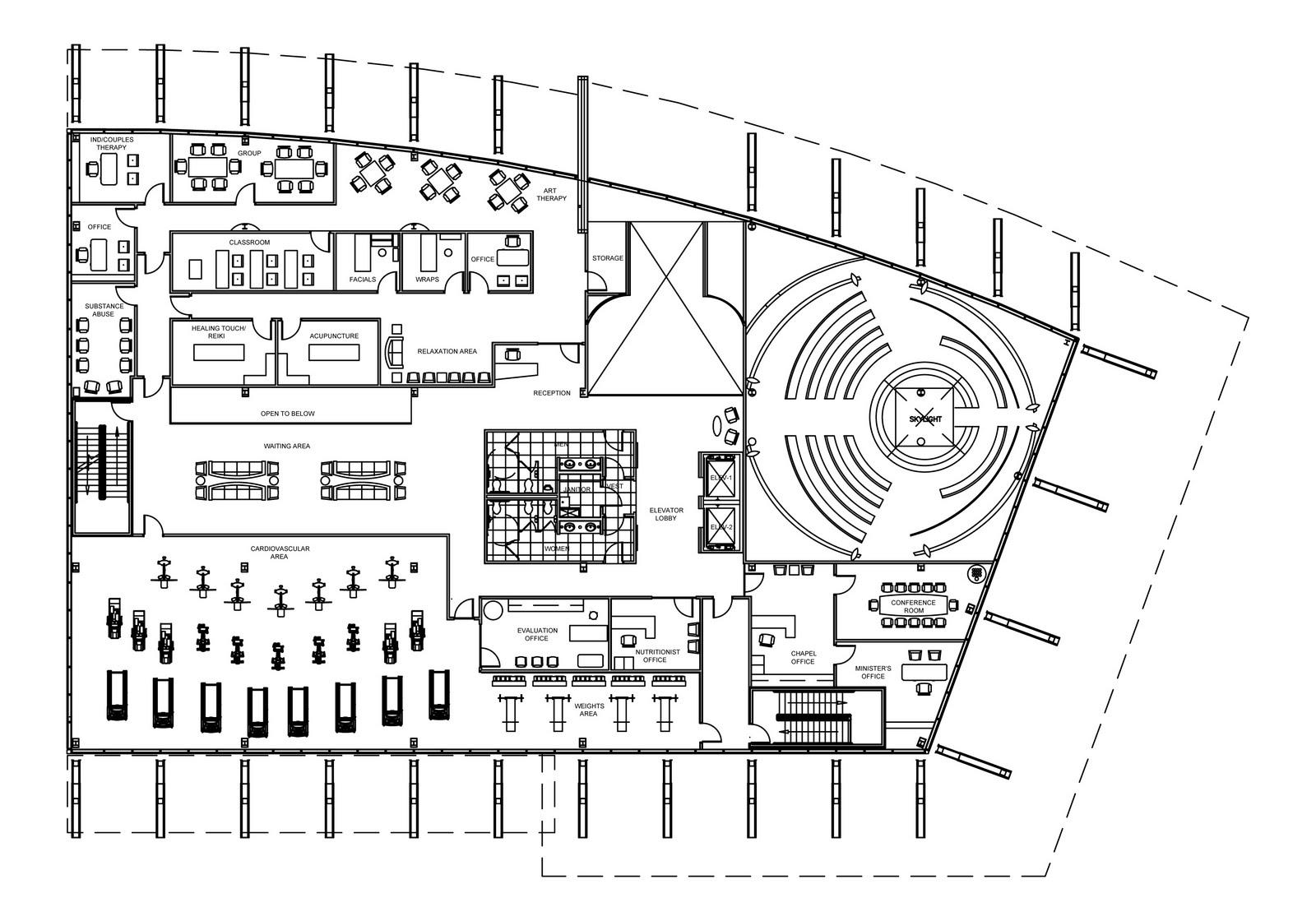 GreenSphere Wellness Center: Revised 2nd Level Floor Plan