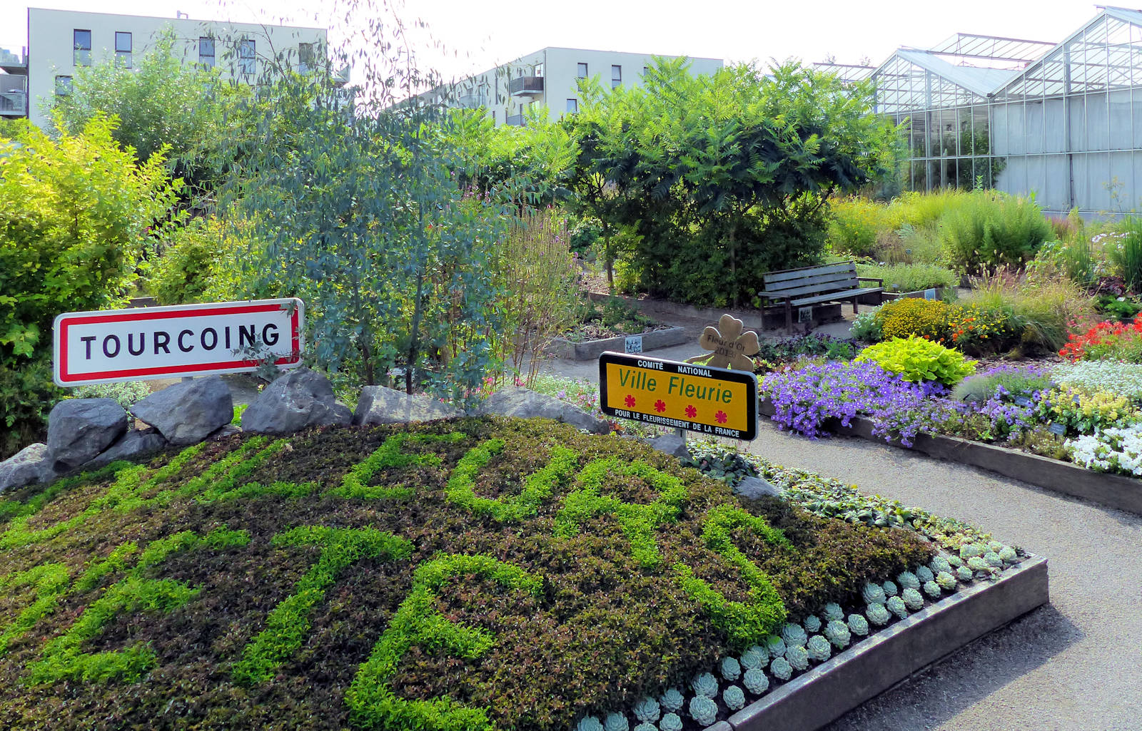 Les carrés pédagogiques du jardin botanique