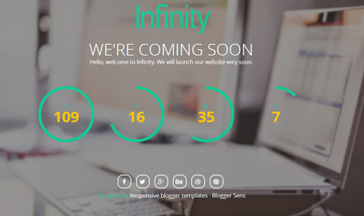 Infinity - Coming Soon Professional free blogger templates Style