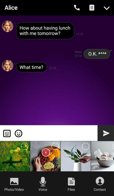 Aqua button(purple)