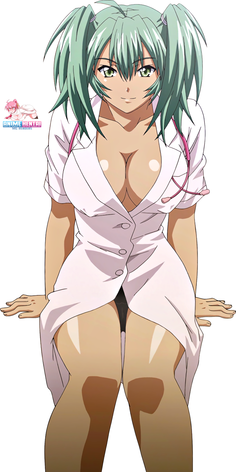 Tags: Anime, Render,  Ikkitousen,  Nurse,  Ryofu Housen,  PNG, Image, Picture