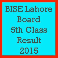 5th Class Result 2017 BISE Lahore Board