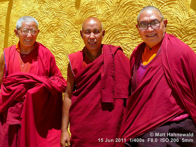 people, street portrait, triple portrait, old Tibetan Buddhist monks, Tibetan Buddhism, Tiekse Gompa monastery, Leh, Ladakh, Northern India, Facing the World, © Matt Hahnewald